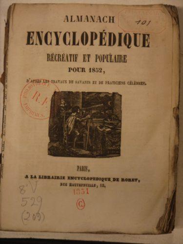 Almanach encyclopédique, récréatif et populaire pour 1852