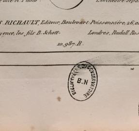 Estampille Bibliothèque du conservatoire