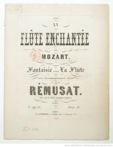 La Flûte enchantée de Mozart, , fantaisie pour la flûte avec acc. de piano. Op. 55