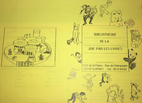 Dépliant diffusé par la bibliothèque de la Joie par les livres à Clamart (2009/050/0260). © BnF, archives administratives