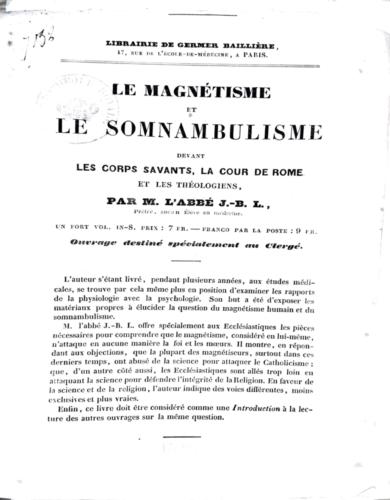Numérisation d'un des catalogues de l'éditeur Germer Baillière, année 1844, conservé à la BnF, fonds Q10B.
