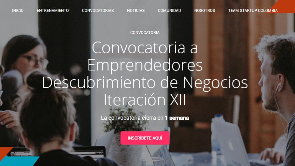 Convocatoria a Emprendedores Descubrimiento de Negocios