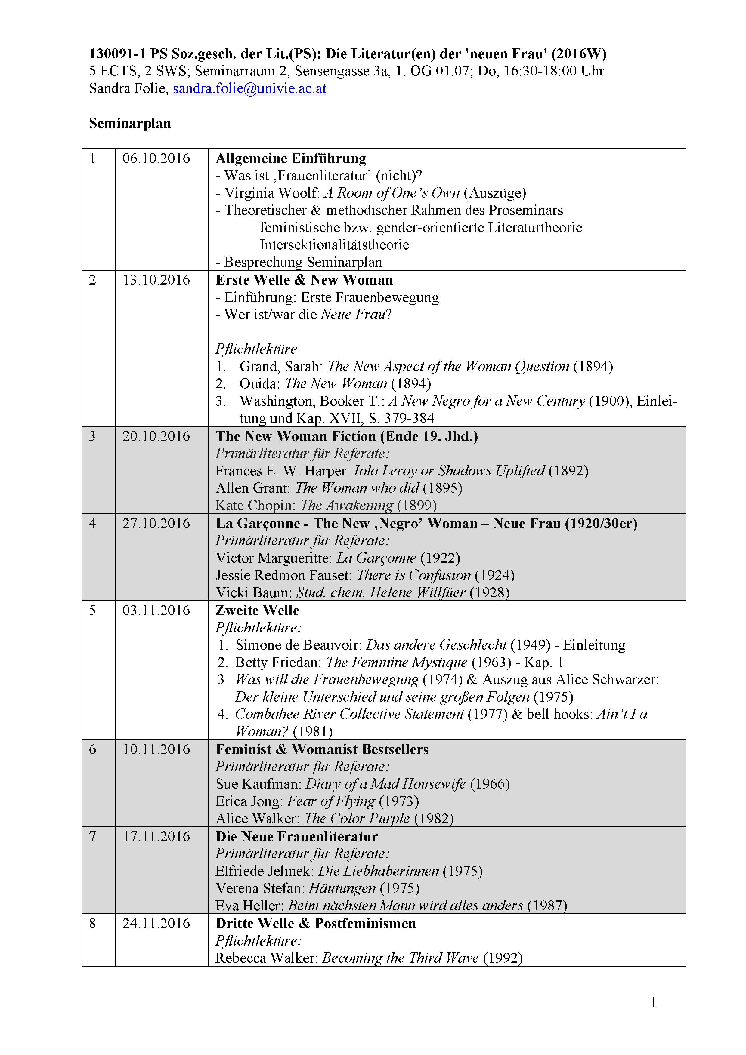 Seminarplan WS 2016/17 (1/2)