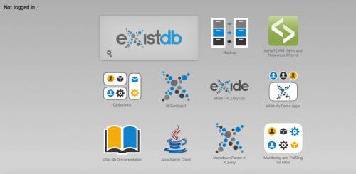 eXist dashboard