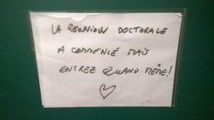 affichette - auteur: Sara pour le Collectif des doctorants de Paris-Sorbonne