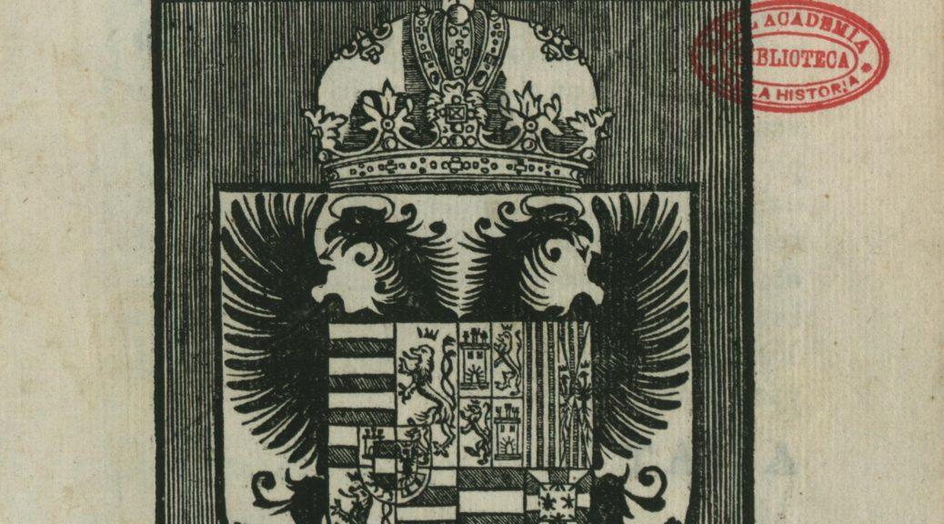 Titelblatt des Libro de las honras 1603 (http://bibliotecadigital.rah.es/dgbrah/es/consulta/registro.cmd?id=633)