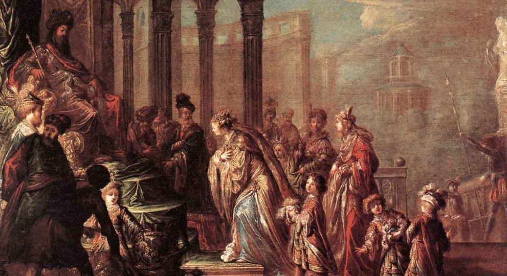Die berühmteste Fürbitte der Geschichte: Esther bittet König Ahasver um die Verschonung ihres Volkes