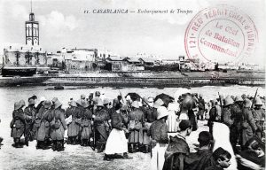 Casablance - embarquement de troupes