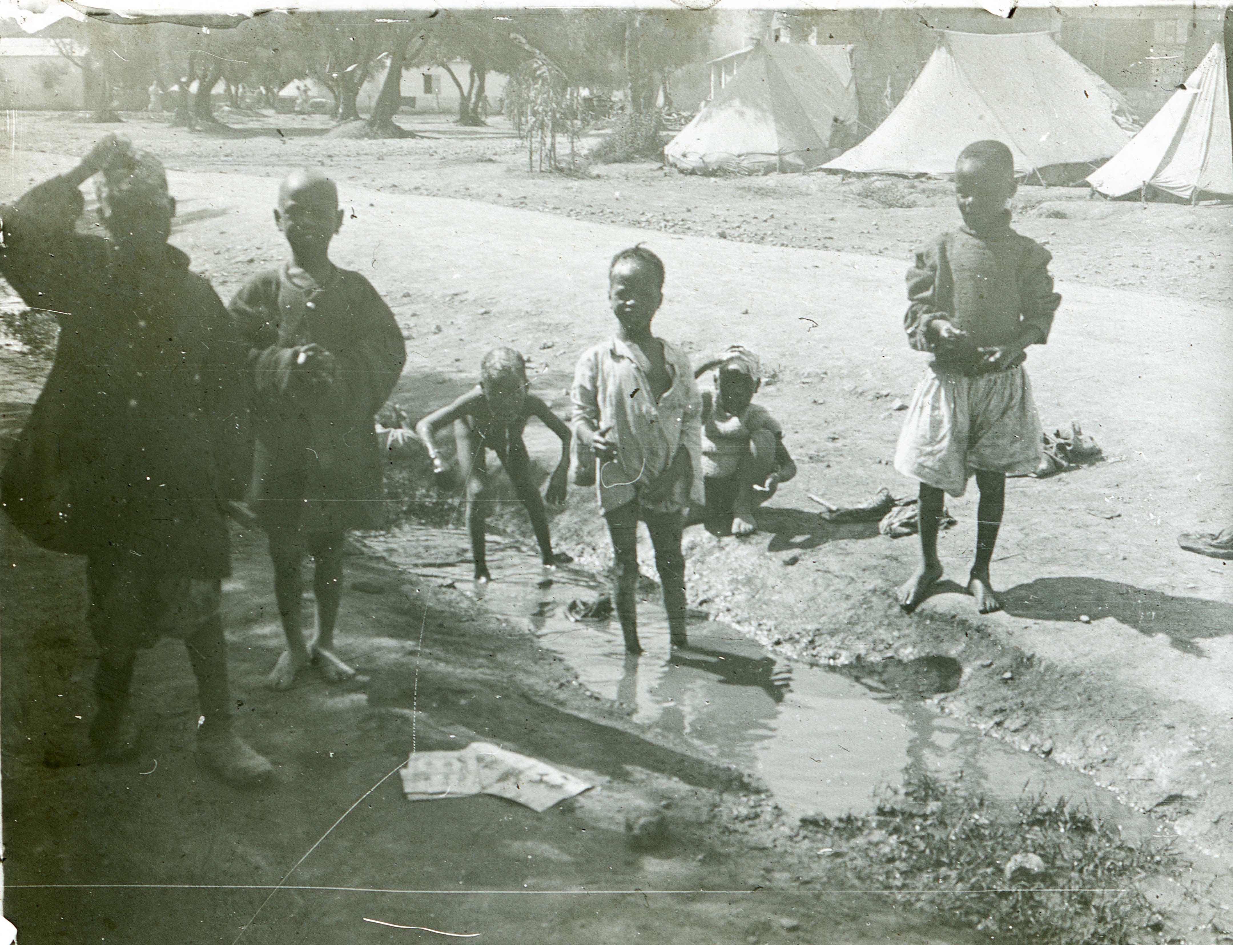 Enfants de tirailleurs africains - Maroc 1915