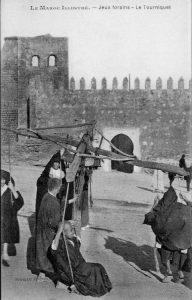 carte postale - Maroc jeux forains - Le Tourniquet - 1915