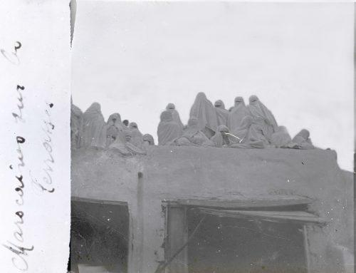 Marocaines sur les terrasses (1)