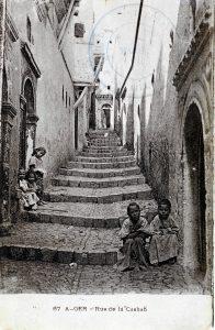 1914 - Alger, rue de la Casbah
