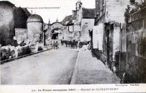 Carte postale 1917 - la France reconquise -Hôpital de Blerancourt