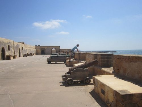Rabat Salé - photo contemporaine -canons_portugais borj_sidi_benacher