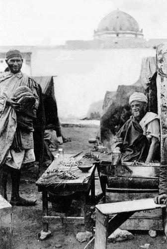 carte postale Maroc 1914 - marchands de friture