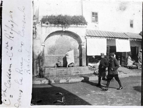 Commandant-Cassou-Capitaine-Refreger-dans-la-rue-des-consuls-Rabat