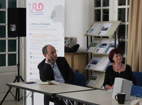 Laurent Vidal, Représentant de l'IRD au Sénégal & Sylvie Bredeloup, co-porteur du MOVIDA