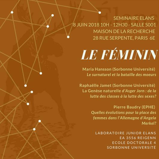 """Programme – Séminaire de fin d'année """"Le Féminin"""""""