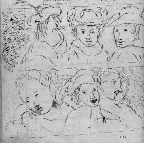 Expressions, fin de registre paroissial de 1765, paroisse Sainte-Croix.