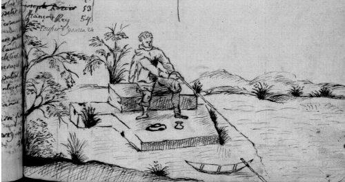 Le pêcheur, fin de table annuelle de 1759, paroisse Sainte-Croix.