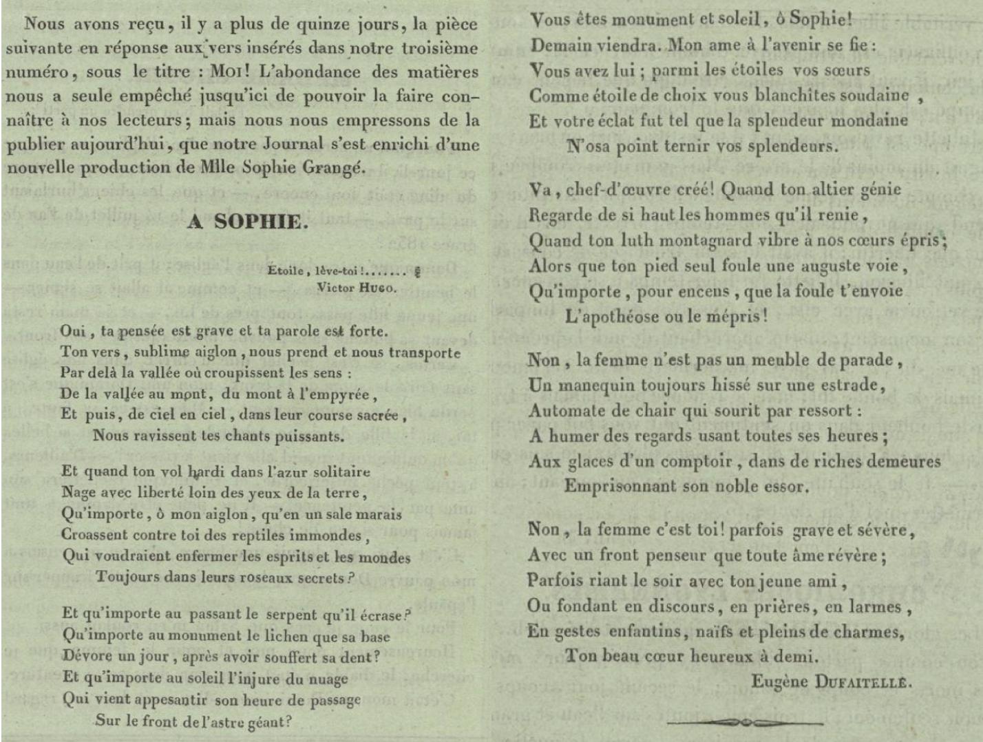 9336aaba8 PERSONNAGE Sophie Grangé   la femme libre de la poésie romantique lyonnaise  – Histoires lyonnaises