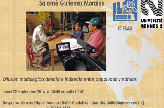 [Conférence] Difusión morfológica directa e indirecta entre popolucas y nahuas