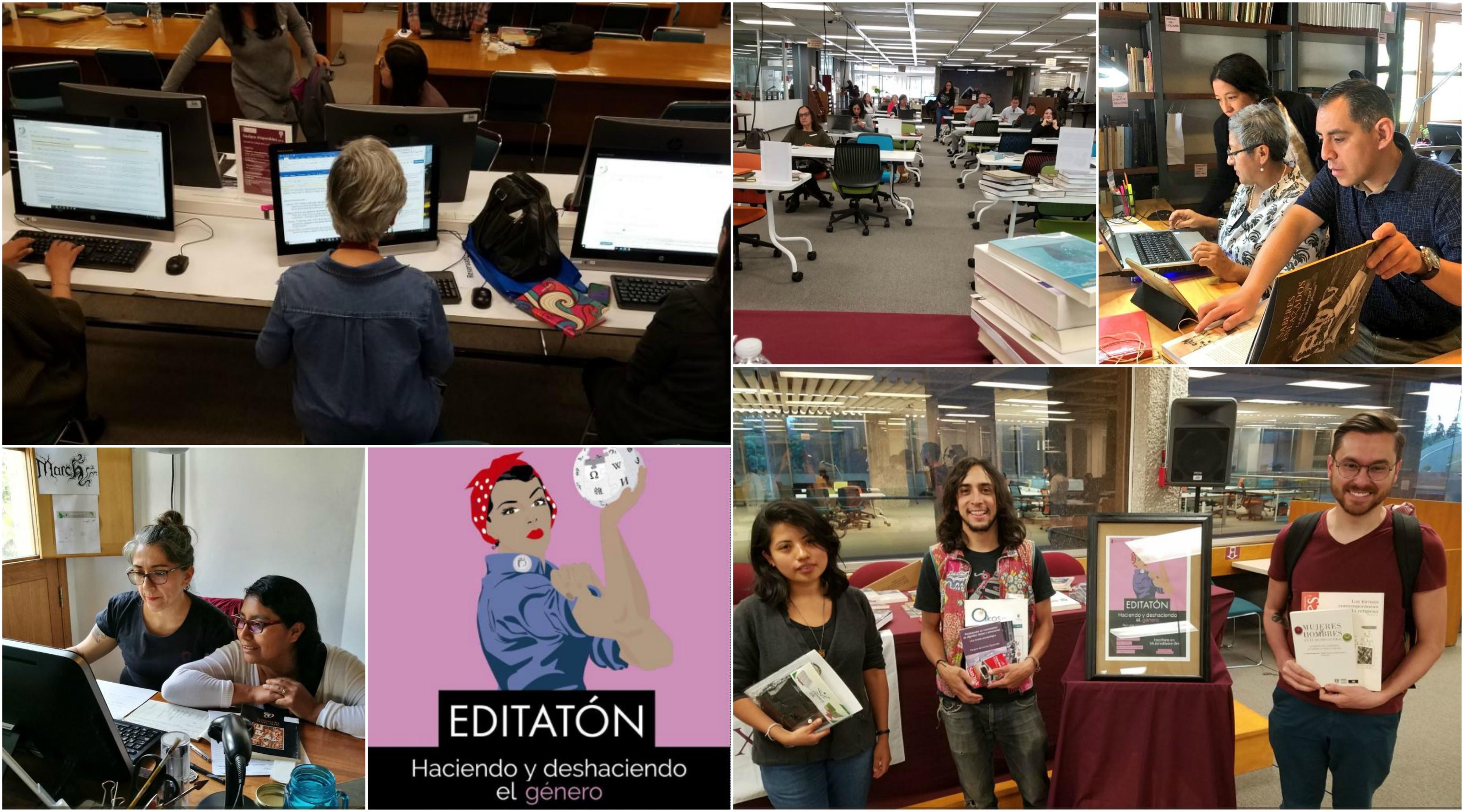 """Editatón """"Haciendo y deshaciendo el género"""" hecho en colaboración con la Biblioteca Juan de Córdova en Oaxaca"""