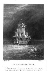Frontispiece to the novel The Phantom Ship by Frederick Marryat. Published by Richard Bentley, London. 1847 edition. by Wikimedia commons