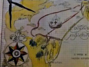 Illustrazioni di una ricerca di storia di un parente dell'autrice risalente agli anni 80