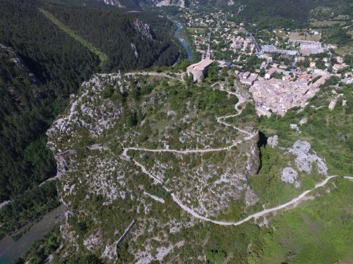 Castellane et le Roc. Cliché Paul Garcin Hélice attitude