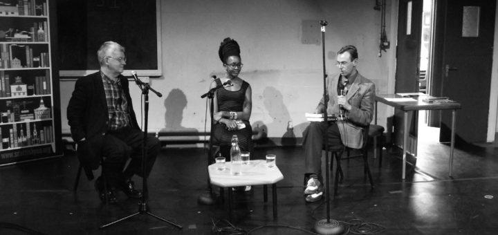 Nnedi Okorafor & Ken MacLeod, Scottish Pen Talk, Newington, Edinburgh, Scotland, UK, June 14, 2014   © Courtesy of byronv2/Flickr.