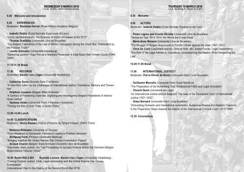 programme 9-10 mars bis
