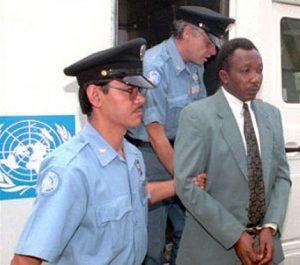 Jean-Paul Akayesu, Première comparution à Arusha. http://unictr.unmict.org/en/ictr-milestones