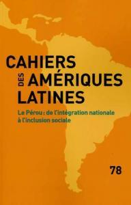 Cahiers des amériques latines 78