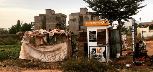 Kiosque Orange Money à Dakar, Sénégal