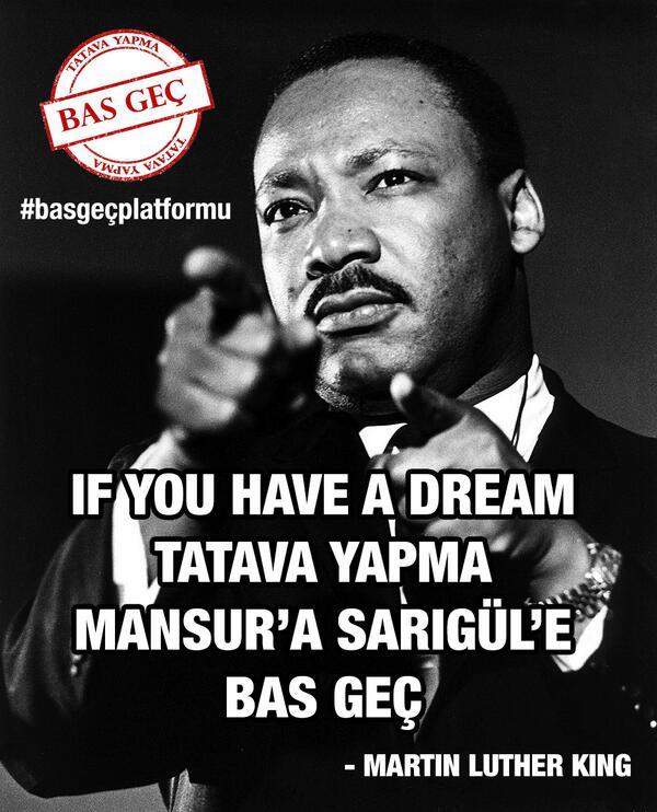 Si tu as un rêve Pas de bla-bla vote pour Mansur (Yavaş), (Mustafa) Sarıgül et passe à autre chose