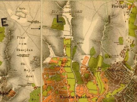 Okmeydanı en 1882   (Extrait de la carte de Stolpe)