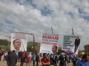 Affiches électorales AKP, Mardin - Photo : Julien Boucly