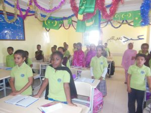 Une classe en Mauritanie, 2013