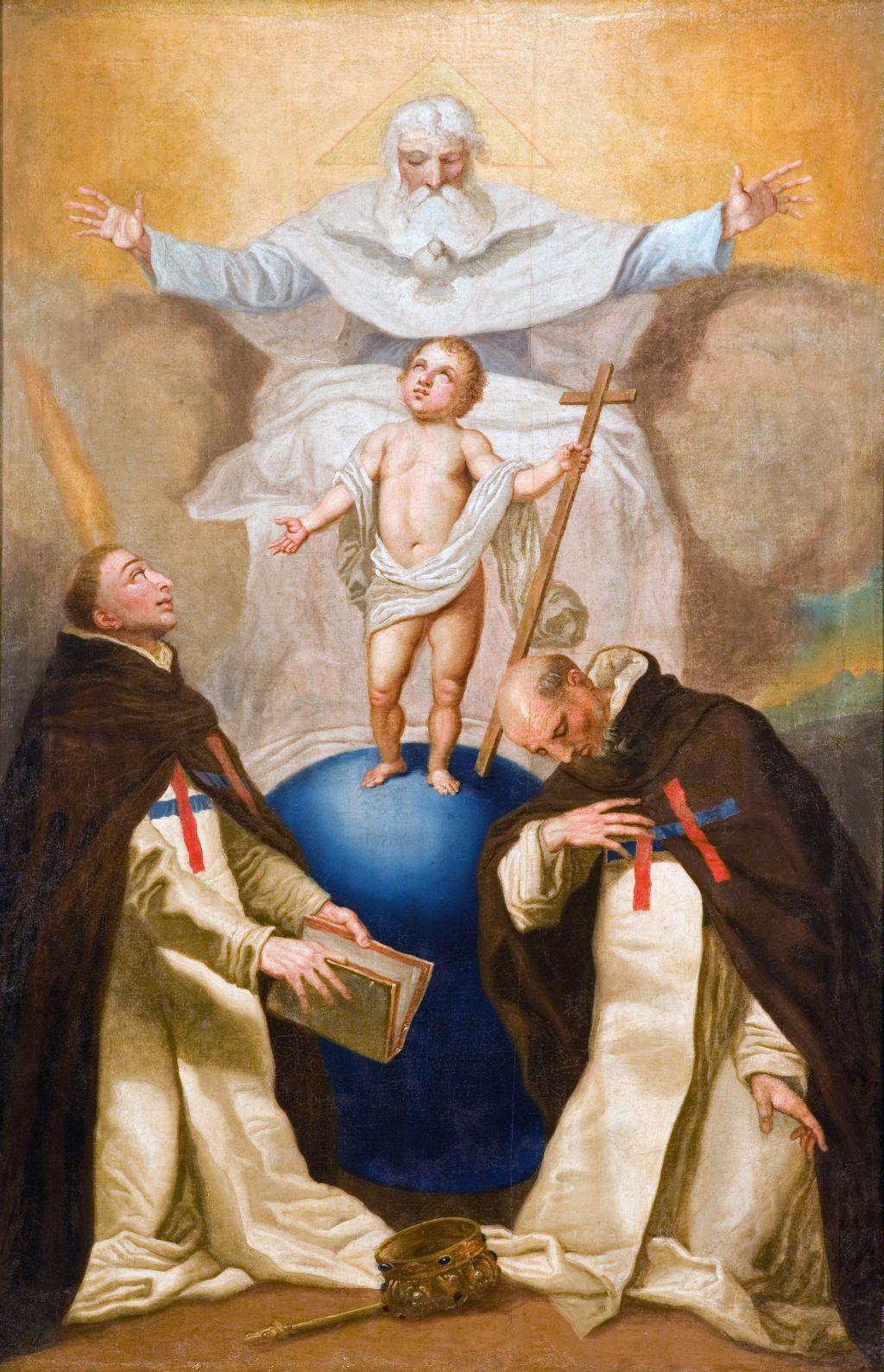 A Szentháromság a trinitárius rend alapítóival, Valois Szt. Félix-szel és Mathai Szt. Jánossal / Franciszek Smuglewicz (Smuglevičius), 1790 körül (Vilnius, trinitárius templom)