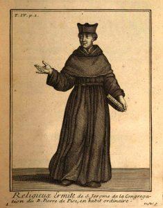 Claude Duflos metszete, 1715 (Helyot, Hyppolite, Histoire Des Ordres monastiques religieux et militaires, IV, Paris, 1715)
