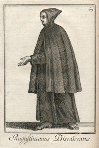 Sarutlan ágostonos remete / Filippo Buonanni SJ metszete, 1706 (Bonanni I, 62; PKK)