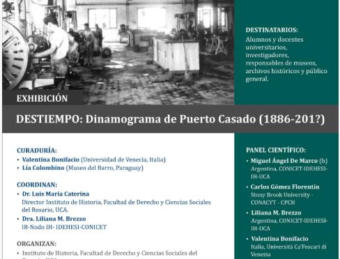 Panel muestra sobre Puerto Casado (Paraguay) y Carlos Casado del Alisal.