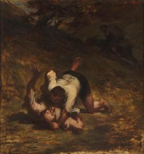 Les voleurs et l'âne (Honoré Daumier, 1858, © RMN/H. Lewandowski)