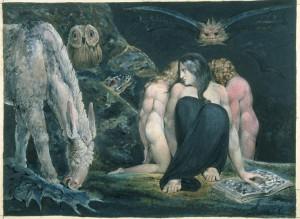 La nuit de joie d'Enitharmon ou Hécate (William Blake, c. 1795)