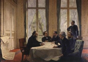 Jules Ferry approuvant les plans de la Nouvelle Sorbonne, Pierre-André Brouillet (19e s.) © RMN-GP/Agence Bulloz