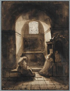 Intérieur d'une chapelle de l'église de Saint-François à Tivoli, François-Marius Granet (1775-1849) © RMN-GP/T. Le Mage