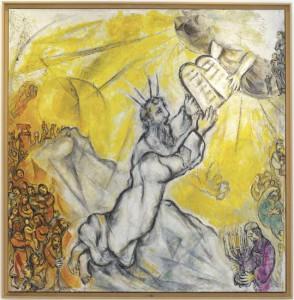 Moïse recevant les Tables de la Loi, Chagall © RMN-GP/Gérard Blot