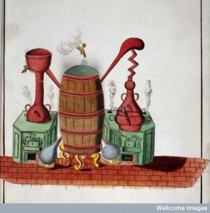 Alchemical apparatus, 1782. Credit: Wellcome Library, London.