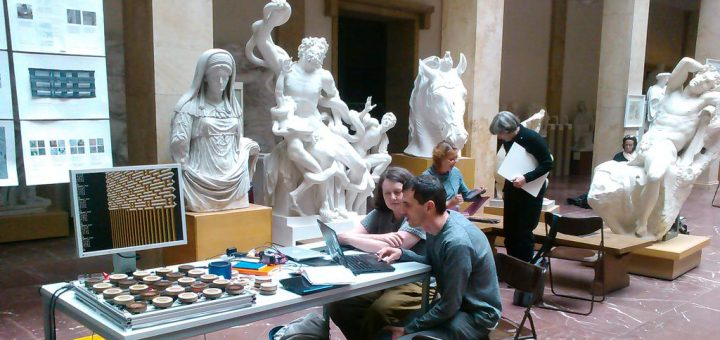 Coding weaves in the Museum for Plaster Casts, Munich
